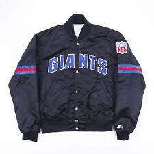 Vintage STARTER NFL NY Giants Black Varsity Bomber Jacket Mens Size Medium