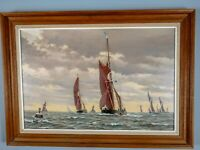 Stunning Oil Painting Sailing Boats Seascape