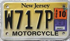 GENUINE New Jersey USA Motorcycle Licence License Number Plate W717P