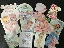 BB54:Vintage images of  BABY GIRL, Baby Shower -Die Cuts Scrapbooking