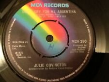 JULIE COVINGTON , DON'T CRY FOR ME ARGENTINA  ( FROM EVITA ) 1976
