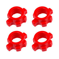 4x Dumbbell Bars Spinlock Collar Weight Spin Lock Screw Barbell Clips Check Nuts