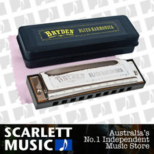 "Bryden Diatonic ""Blues"" Harmonica, Key of A *NEW* mouth organ, harp, 10 hole"