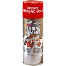 Duplicolor DE1607 Chevrolet Orange Red Motor Engine Spray Paint Aerosol 12oz.