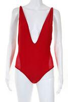 Les Canebiers Womens Tropez Bikini One Piece Bathing Suit Red Size Small