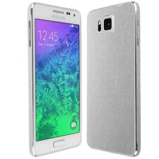 Skinomi Brushed Aluminum Skin+Clear Screen Protector for Samsung Galaxy Alpha