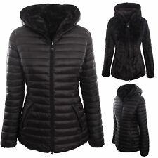Piumino donna giacca pelliccia reversibile double face giubbino TOOCOOL J6866