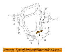 Hummer GM OEM 06-10 H3 Lock -Rear Door-Handle Base Left 25878782
