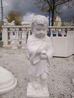 Putte Winter 70 cm Statue Figur  Gartendekorationen Skulptur Steinguss