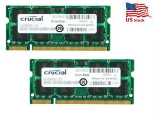 Crucial 8GB (2 x 4GB) 200-Pin DDR2 SO-DIMM DDR2 667 (PC2 5300) Laptop Memory Mod