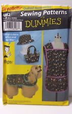 Sewing Patterns for Dummies 4982 Apron Dog Coat Hat & Bag Quilted Accessories