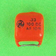 Pre-Tested Orange Drop Polyester Capacitor .33uf 100V DC 10% Radial Lead VDC NEW