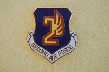 US USA USAF 2nd Air Force Military Hat Lapel Pin