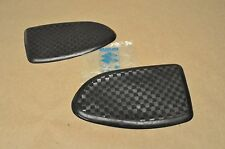 NOS New Vtg Suzuki 1968 K10 K11 K15 Gas Fuel Tank Side Knee Pad Rubber Grip Set