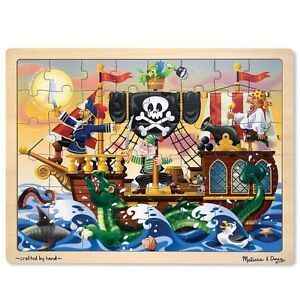 Melissa and & Doug ~ Pirate Adventure ~ Tray Wooden Puzzle ~ 48pc 650g 4+yrs BN