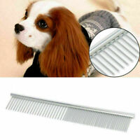 Silver Stainless Steel Comb Hair Brush For Cat Dog Pets Trimmer Grooming Comb*1