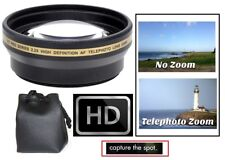 58mm 2.2x Hi Def Telephoto Lens for Canon Nikon Sony Panasonic Samsung Pentax