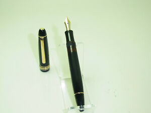 1950´s MONTBLANC 144 Meisterstück Celluloid Fountain Pen FLEXY 14Ct OF Nib G22