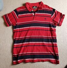 Timberland Earthkeepers Polo Striped Red XXL Short Sleeve Cotton