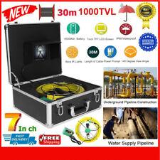 """7"""" TUBO FOGNATURA ISPEZIONE Videocamera LCD 17mm 1000TVL alta definizione 30m CAVI IMPERMEABILE"""