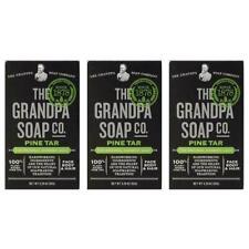 Grandpa's Pine Tar Bar Soap 3.25 Ounce (Pack of 3)