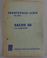 Teilekatalog / Ersatzteilliste Sachs Motor 50  Typ Saxonette