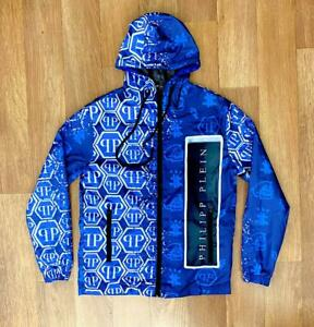 PHILIPP PLEIN  jacket blouse windbreaker  Windjacke light blue
