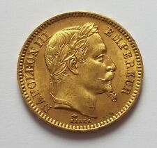 20 francs or Napoléon III tête laurées 1865 A
