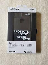 Tech21 Evo Max Series Protective Hardshell Case for Google Pixel 3 - Black
