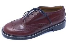 THE BROGUE BY THE MARC JACOBS SZ 41 OXBLOOD LEATHER LACE UP OXFORD SHOE NEW