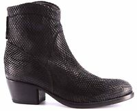 Zapatos Mujer Botines MOMA Ankle Boots 90501-ZA Snake Nero Negro Vintage Italy