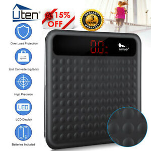 180KG GLASS BATHROOM SCALES ELECTRONIC DIGITAL WEIGHING BODY SCALE WEIGHT LOSS
