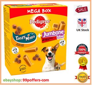 Pedigree 3 Tasty Minis Chicken Duck + 8 Jumbone Small Dog Treats Mega Box 740g