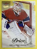 2013-14 Fleer Ultra Showcase Hockey #18 Carey Price Montreal Canadiens