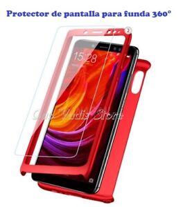 PROTECTOR DE PANTALLA CRISTAL TEMPLADO PARA FUNDA CARCASA 360° IPHONE XIAOMI ETC