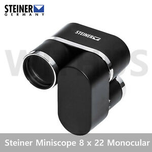 Steiner Miniscope 8 x 22 Compact Monocular Black - Fedex Express
