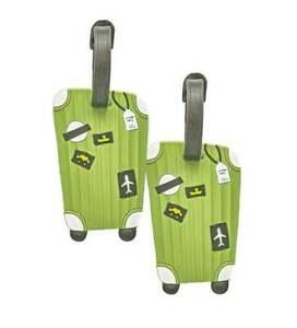Kofferanhänger grün Adressanhänger Adresse Anhänger