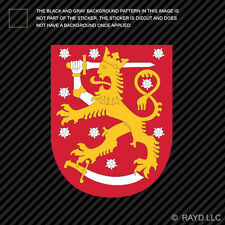 Finnish Coat of Arms Sticker Decal Self Adhesive Vinyl Finland flag FIN FI