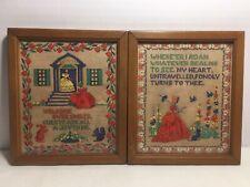 2 Buzza Sampler Motto Vintage Cross Stitch Sampler, Not Fabric