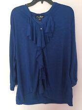 ZENA Woman Royal Blue Top Light Knit Top Plus SIze 3X Nwt