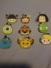 Disney Store Exclusive Limited Edition Tsum Tsum 9 Piece Pin Set