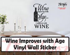 Wine Improves With Age Wall Expressions Vinyl Sticker
