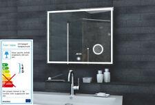 Badezimmer Lichtspiegel mit Uhr & Schminkspiegel Badspiegel Spiegel 80x60cm