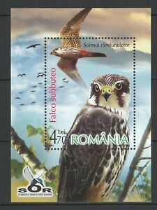Romania 2007 Birds of prey MNH Block