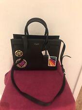 NWT Saint Laurent Sac de Jour Baby Patches Satchel Bag, Black/Multi $2790