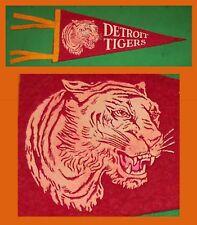 VINTAGE Detroit Tigers Baseball Pennant! WOW