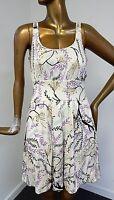 M Missoni sz 4 100% Silk Floral Sleeveless Dress Italy