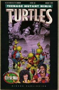 Teenage Mutant Ninja Turtles #62-1993 nm- 9.2 Mirage low print run last issue