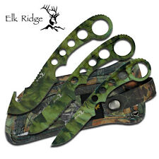 NEW! Elk Ridge 3-Pc. Camo Hunter Skinning Field Dressing Knife Set w/ Sheath