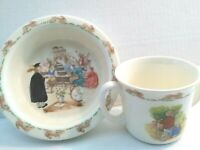 ROYAL DOULTON  BUNNYKINS CHILDS ENGLISH FINE BONE CHINA -2 PC BOWL/CUP SET